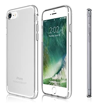 Funda iPhone 8 / iPhone 7 - KHOMO Carcasa Híbrida Transparente Anti-Arañazos con Bumper Invisible Protector Antichoque para el nuevo Apple iPhone 8 / ...