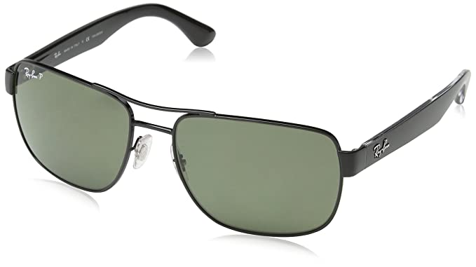 45a5358ea60 Amazon.com  Ray-Ban Men s 0RB3530 Square Polarized Sunglasses  Ray-Ban   Clothing