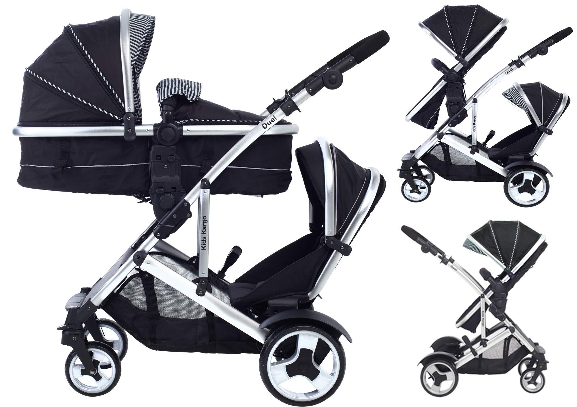 Kids Kargo Duel DS Doppel Einzel Kinderwagen Tandem Trageschale Doppel