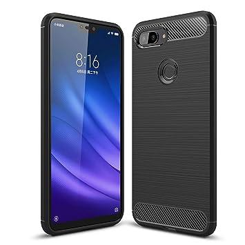 Funda Xiaomi Mi 8 Lite, Anti-Arañazos Suave Silicona Fundas para Xiaomi Mi 8 Lite, Shock-Absorción Protector TPU Carcasa Cover para Xiaomi Mi 8 Lite, ...
