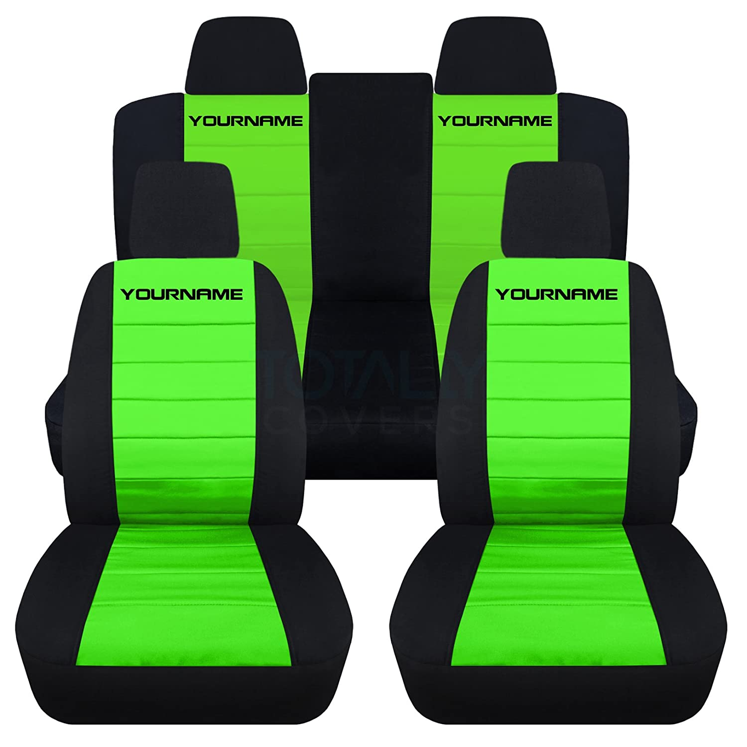 Amazon 2011 2014 Ford Mustang 2 Tone Seat Covers with Your Name
