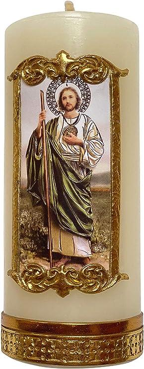 Saint Jude Handmade Candle Cirio De San Judas Tadeo Hecho a Mano