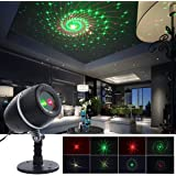 Christmas Laser Lights, YMing Indoor Outdoor Fairy Projector lights with Red and Green Laser Light Star Fairy Shower Garden Spotlight For Xmas Holiday Party Decoration