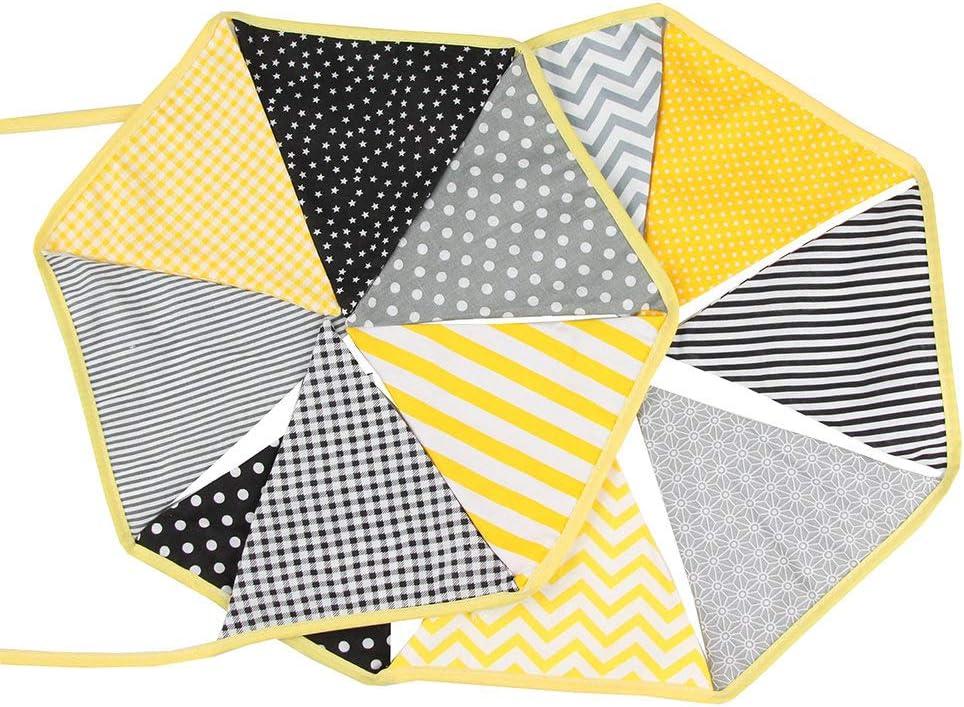 Deylaying Triangle Bruant Coton Tissu Double Face Impression Ancien Sch/éma pour Mariage Anniversaire F/ête Photo Fond Orange