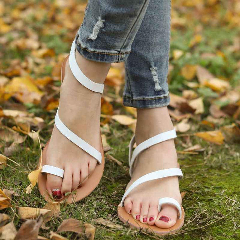 better-caress Womens Sandals Bohemia Giator Sandal Women Shoes Flip Flops Sandalias,Black,10