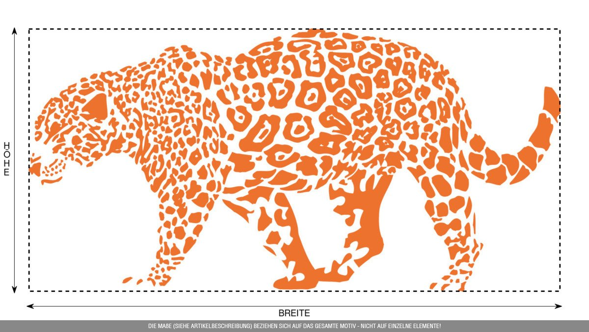 CLICKANDPRINT Aufkleber » » » Leopard, 150x74,4cm, Türkis • Wandtattoo   Wandaufkleber   Wandsticker   Wanddeko   Vinyl B073X7DBXW Wandtattoos & Wandbilder d68e82