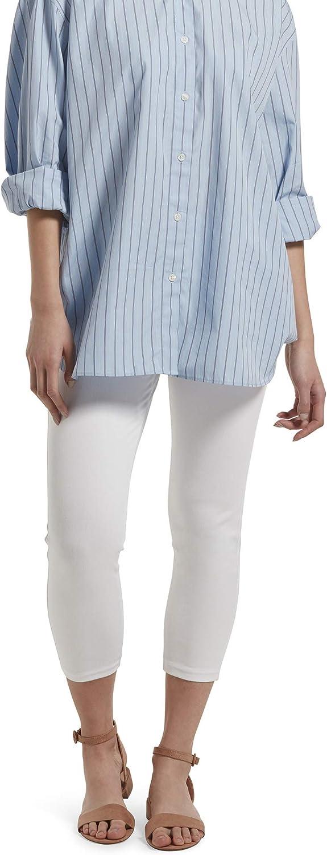 No Nonsense Women's Classic Denim Capri Leggings with Pockets
