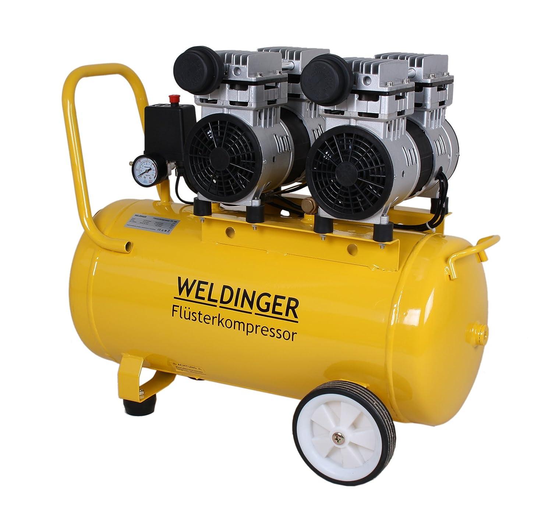 Compresor silencioso FK 60/90/120/270/360 de Weldinger, potencia de aspiración de 60 a 360 l - Compresor de aire comprimido silencioso y sin aceite, ...