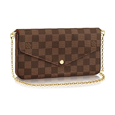 58baabfbeea9 Image Unavailable. Image not available for. Color  Louis Vuitton Damier  Ebene Pochette Félicie ...