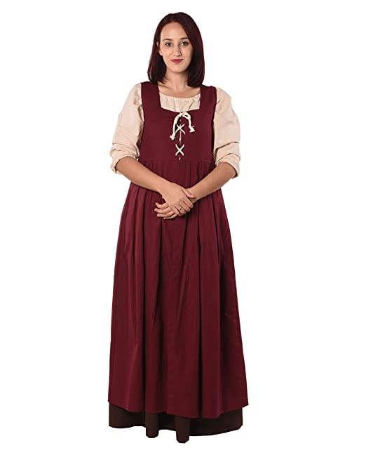 byCalvina - Calvina Costumes Bella Medieval Viking LARP Pirate Renaissance  Dress Overdress - Made in Turkey