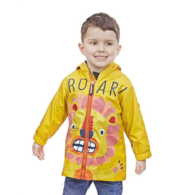 Squidkids Kids//Boys//Girls Lion Colour Changing Waterproof Raincoat