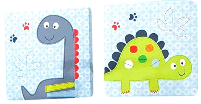 Bananafish Little Dino壁アート、ブルー、2カウント   B01LXN0K4K