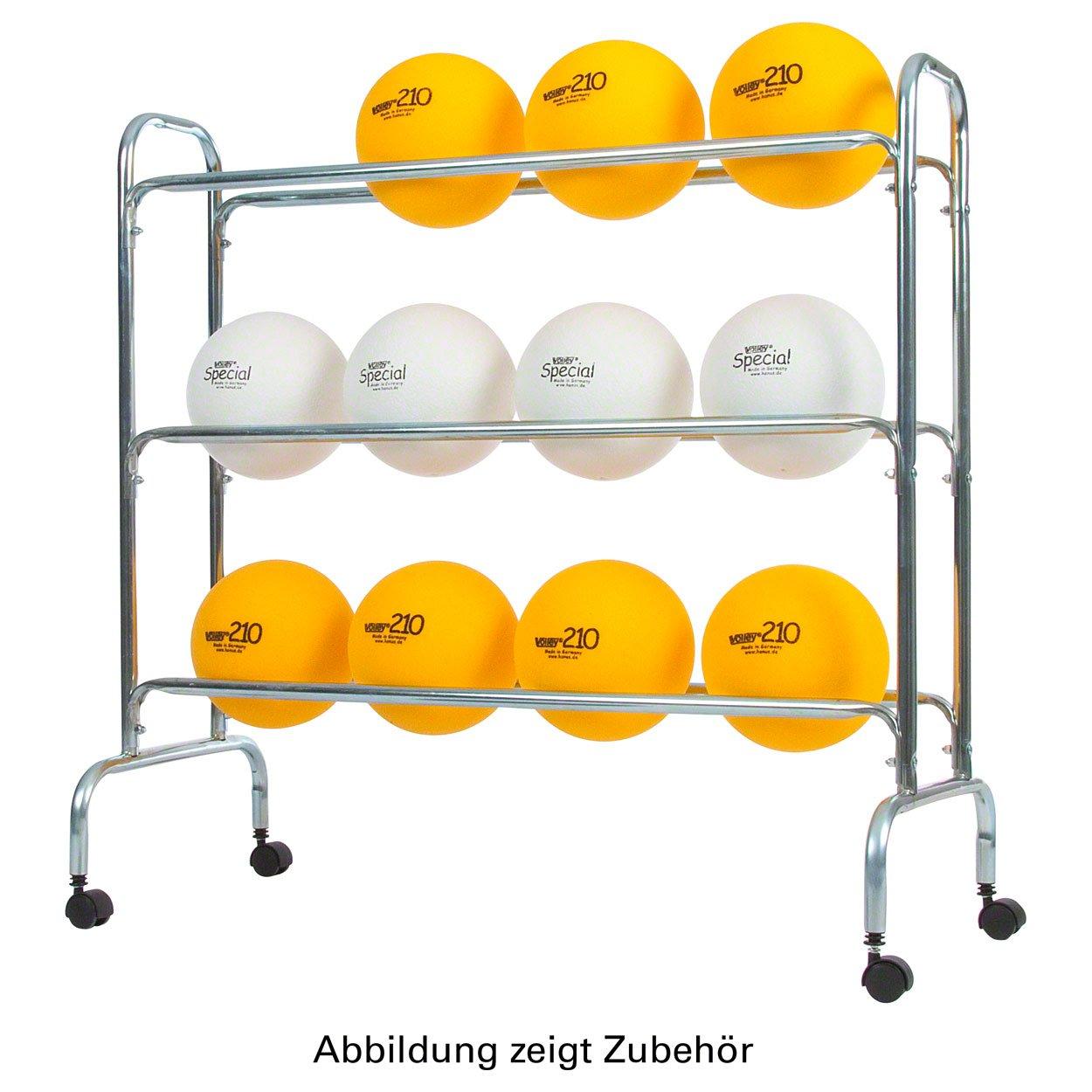 Ballregal für bis zu 12 Bälle, Ballwagen für Sporthallen Vielzweckwagen, fahrbar Sport-Tec
