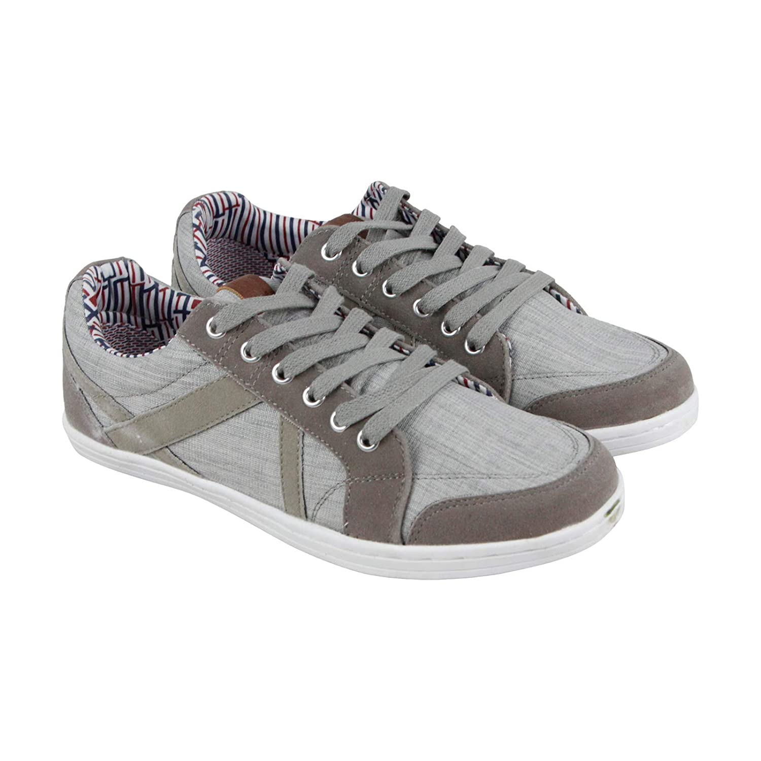 Ben Sherman Knox Mens Beige Textile Lace Up Sneakers Shoes