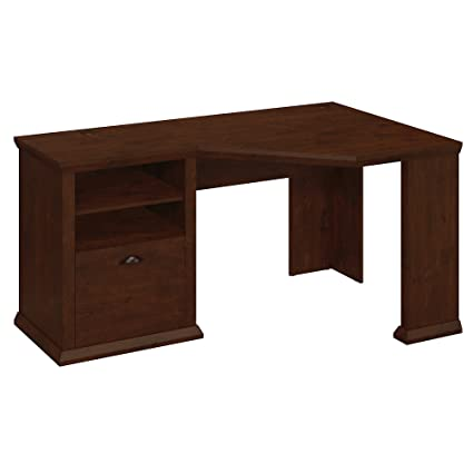 Bon Bush Furniture Yorktown Corner Desk In Antique Cherry