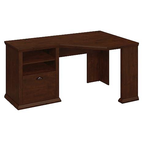 Bush Furniture Yorktown Corner Desk in Antique Cherry - Amazon.com: Bush Furniture Yorktown Corner Desk In Antique Cherry