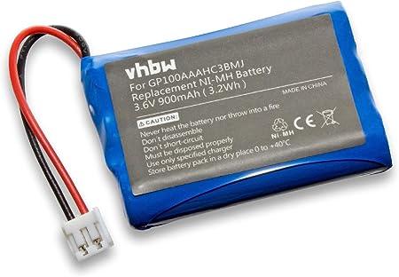 700mAh, 3.6V, NiMH MBP483 babyphone /écoute-b/éb/é babytalker MBP482 vhbw batterie compatible avec Motorola MBP481