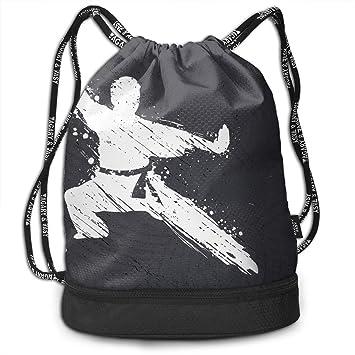 Amazon.com: Mochila con cordón y bolsillo, multifuncional ...