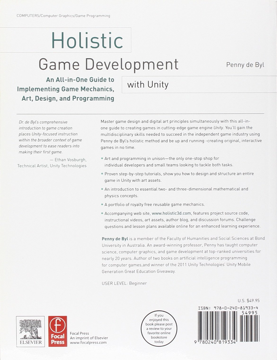 Amazon com: Holistic Game Development with Unity: An All-in-One