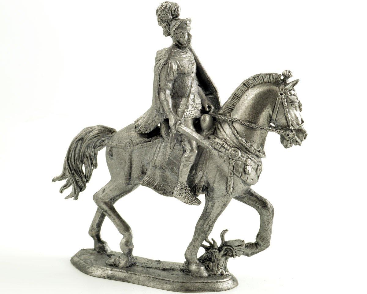 Tin toy soldiers. Rome. Praetorian Decurion, 1 cent. Metal sculpture, statue. Collection 54mm scale 1 32 miniature figurine