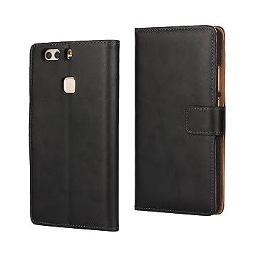 Copmob Funda Huawei P9 Plus, Funda Cuero Resistente, Soporte Plegable, Ranuras para Tarjetas y Billetes, Estilo Libro, Acceso a Botones, Cierre ...