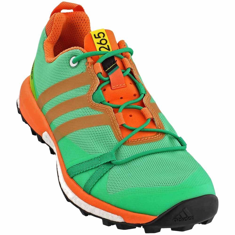 adidas Terrex Agravic Shoe Womens Trail Running 8.5 Core Green-Black-Easy Orange B01HNIOVGU Parent