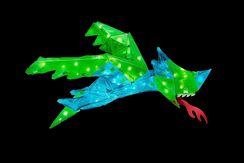 KOSMOS 03523 CREATTO Drache 3D-Leuchtfiguren entwerfen Flugsaurier 138 Steckteile Sittich oder Libelle ab 10 Jahre gestalte kreative Zimmer-Deko 3D-Puzzle-Set f/ür Drache 80-tlg LED-Lichterkette