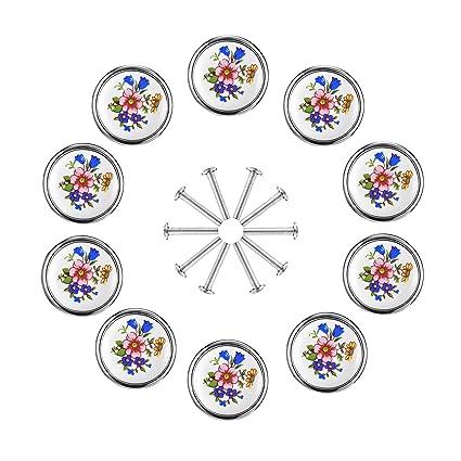 Syndecho 12 Pezzi Pomelli in Ceramica per Porte e Cassetti ...