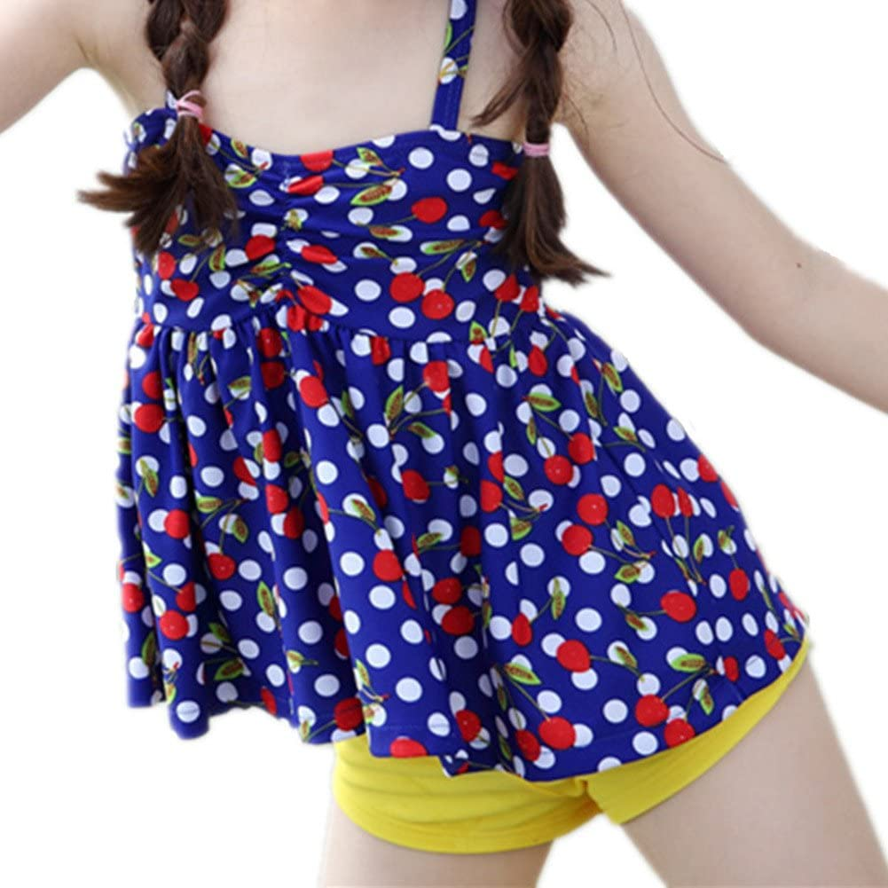 Oushiny Girls Polka Dots Swimsuit Kids 2-Piece Swimwear 2 Colors for 2-8