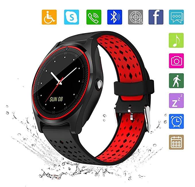 Kkcite Smart Watch Touch Screen Sweatproof Bluetooth Smartwatch Phone With SIM 2G GSM for Samsung Nexus6 Htc Sony and Android Smartphones Support ...