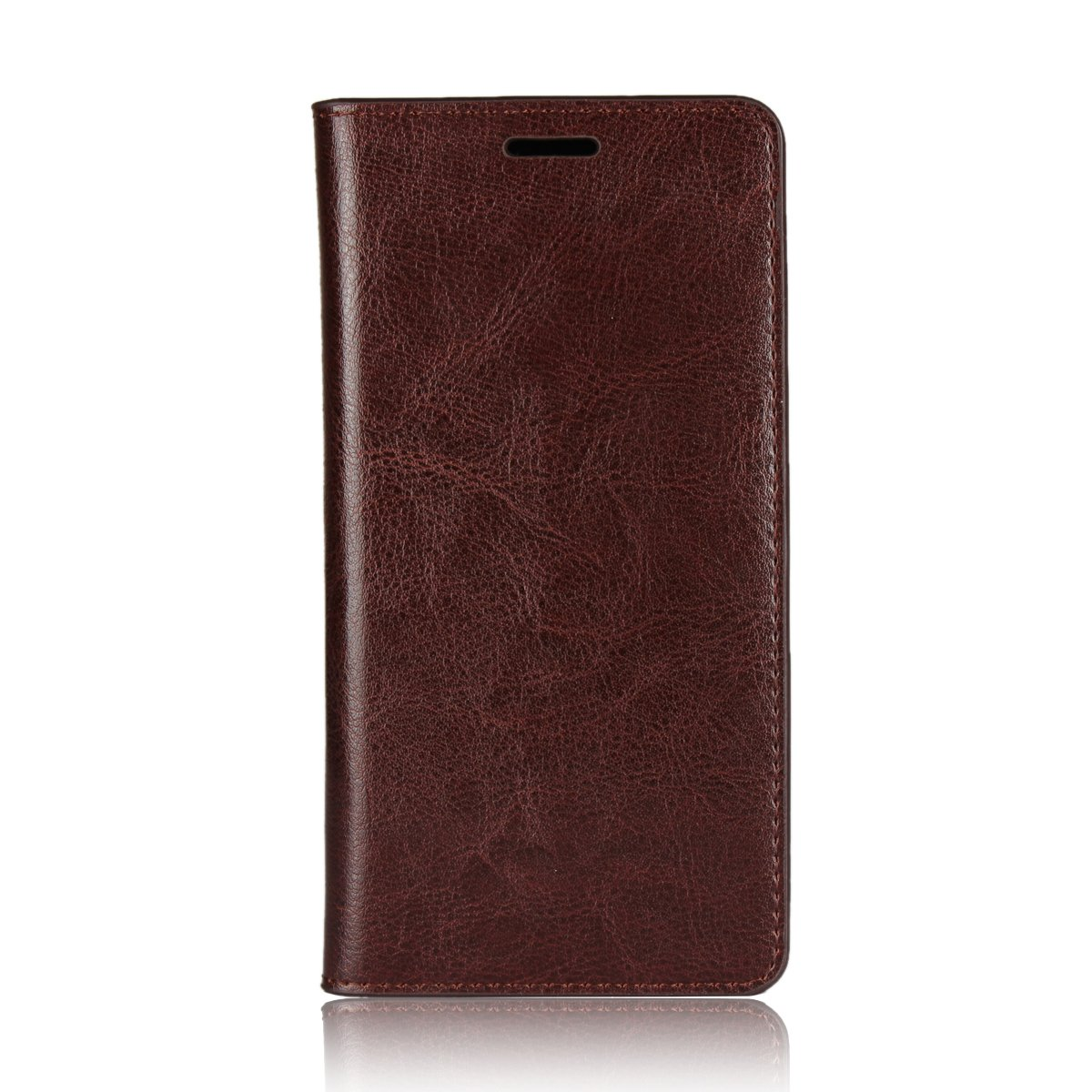 Torubia Sharp Android One X3 Case,[ Shock Absorbent ] Durable Protective Case PU Leather Kickstand Wallet Cover Durable Flip Case for Sharp Android One X3 Dark Brown