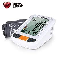Hangsun Blutdruckmessgerät Handgelenk BM230 Vollautomatische Oberarm Blutdruck- und Pulsmessung am Oberarm mit Arrhythmie-Erkennung,WHO Ampel-Farbskala