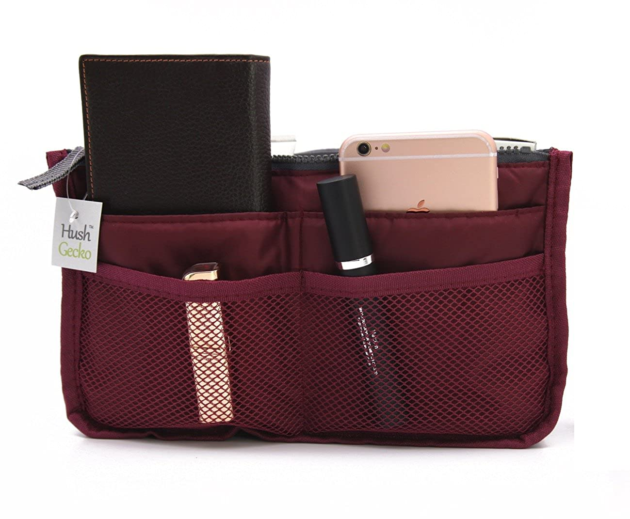 Tote Bag Insert Makeup Organizer (Wine)