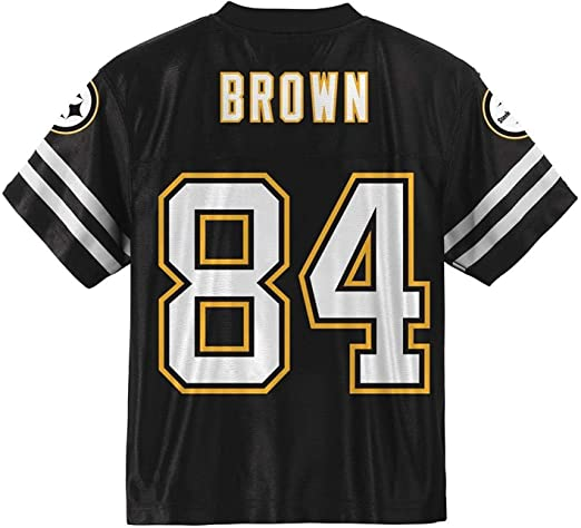 Outerstuff Antonio Brown Pittsburgh Steelers #84 Black Kids Home Player Jersey