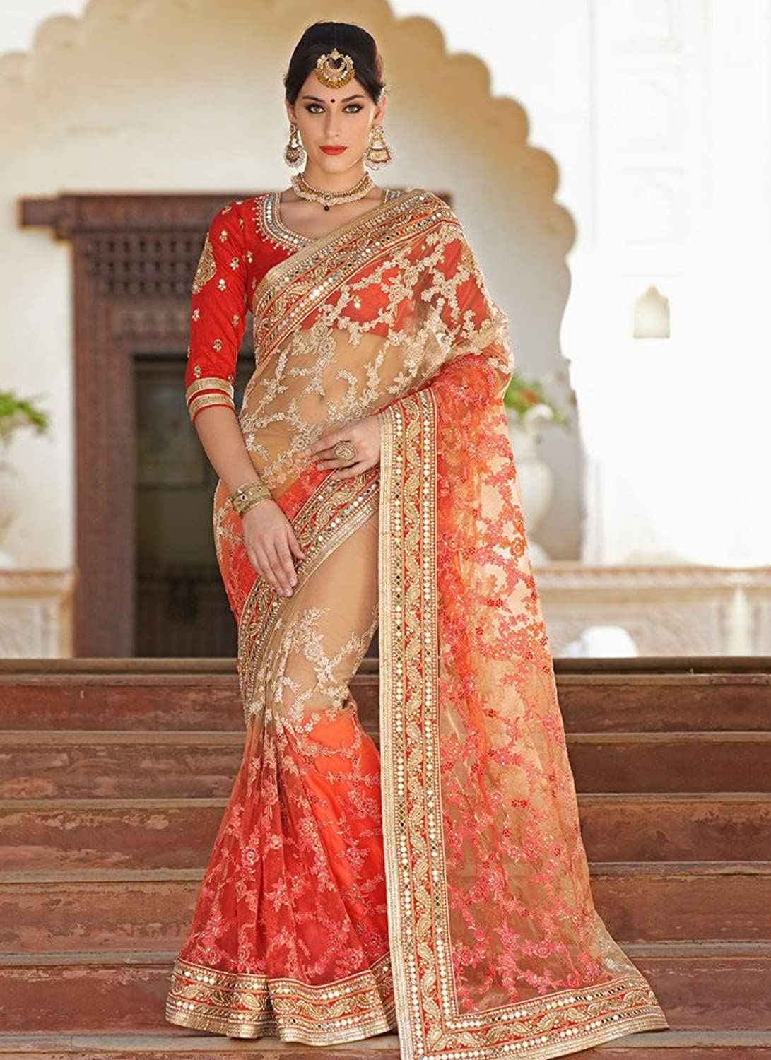 Ethnicwear9 Women's Traditional Net Best Rate Saree