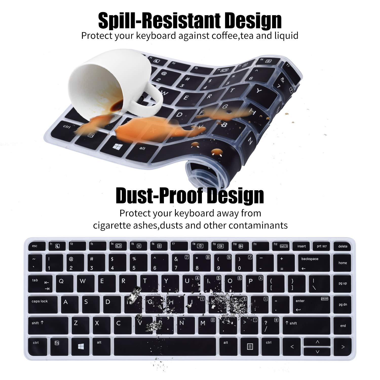 CASEBUY Ultra Dünn Tastatur Silikon Schutzfolie Cover Haut für 33 8 cm HP ProBook 430 G3 35 6 cm ProBook 440 G3 EliteBook 1040 G3 Notebook US Version