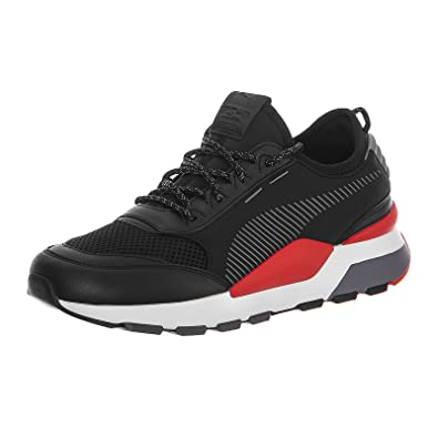 2bea0f19aa8d Puma - Trainers - RS-0 Play Black HIGH Risk RED  Amazon.co.uk  Shoes ...
