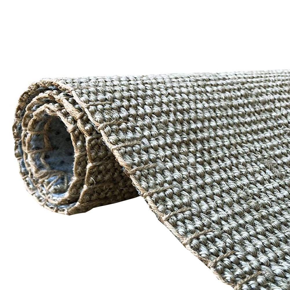 GUORRUI フロアマット 亜麻 難燃性 吸音 絶縁 織り 単純な コーヒーテーブル、 5つのスタイル サイズはカスタマイズすることができます (色 : C, サイズ さいず : 1.3x1.9m) B07RBWC6M5 C 1.3x1.9m