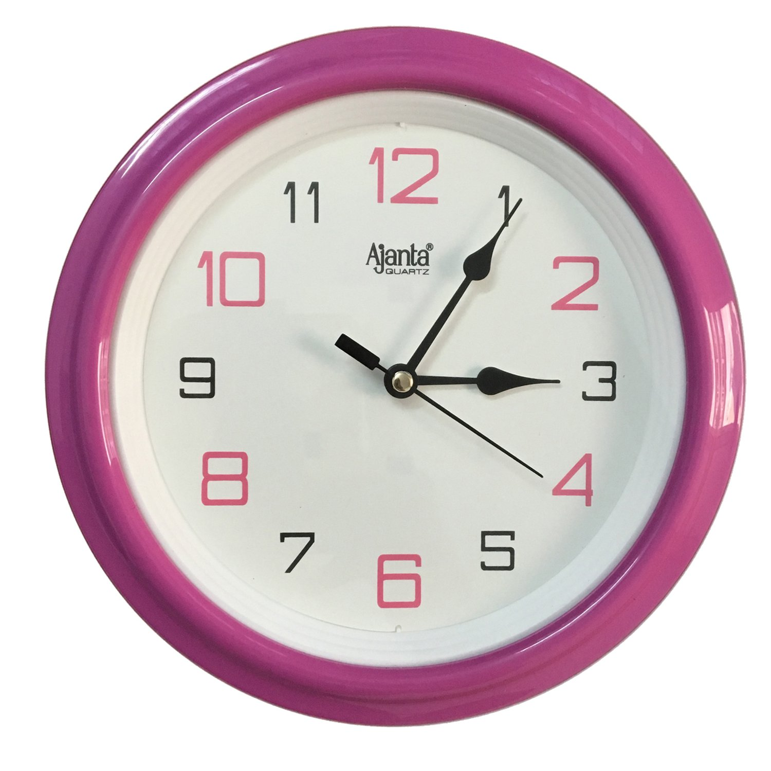 Buy ajanta pink wall clock pink online at low prices in india buy ajanta pink wall clock pink online at low prices in india amazon amipublicfo Image collections