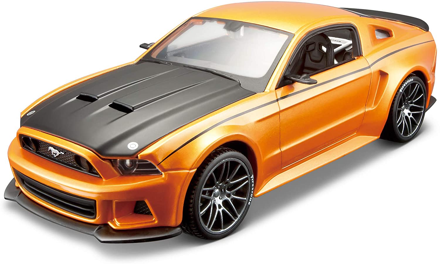 Maisto 1:24 Scale Assembly Line 2014 Ford Mustang Street Racer Diecast Model Kit (Colors May Vary)