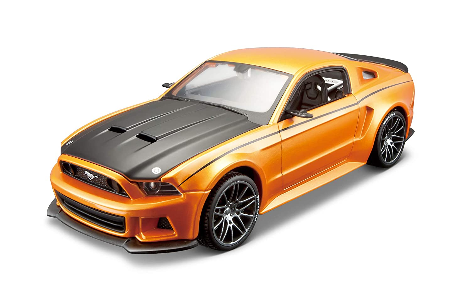 Maisto Domestic 39127 Maisto 1:24 Scale Assembly Line 2014 Ford Mustang Street Racer Diecast Model Kit Colors May Vary