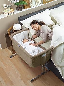 "Amazon.com: Chicco Cuna de dormir lateral Next2Me ""gris ..."