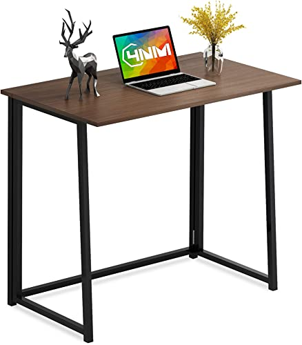 4NM 31.5″ Small Desk No-Assembly Folding Computer Desk Home Office Desk Study Writing Table