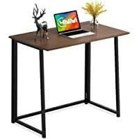"""4NM 31.5"""" Small Desk No-Assembly Folding Computer Desk Home Office Desk Study Writing Table for Small Space Offices…"""