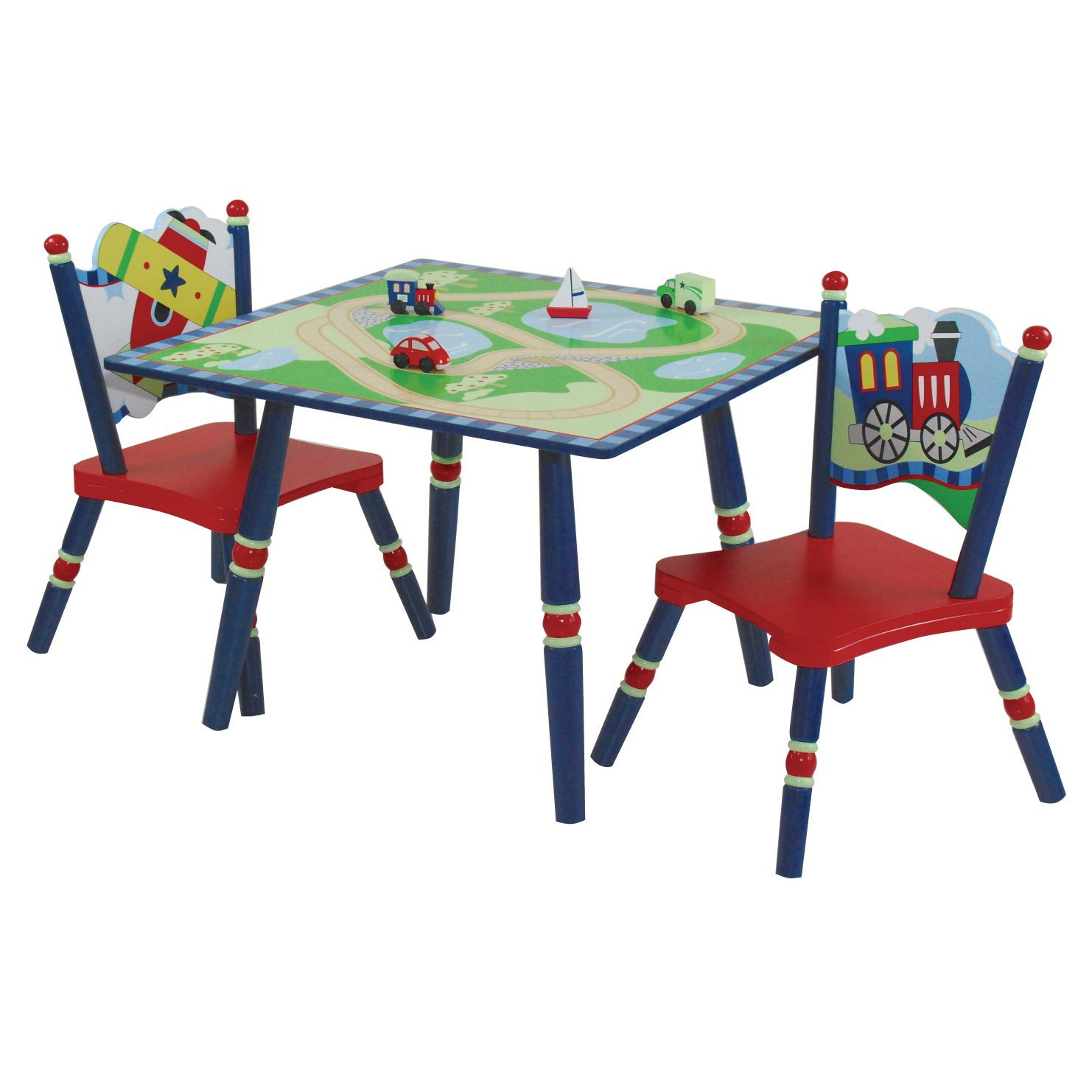 sc 1 st  Amazon.com & Amazon.com: Wildkin Gettinu0027 Around Table u0026 2 Chair Set: Toys u0026 Games