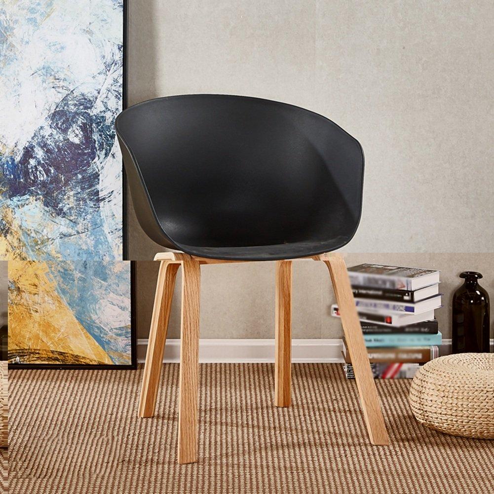 ZEMIN ダイニングチェア椅子の木の木製折り畳み チェアソファシートスツールテーブルバックレストポータブルクリエイティブ美しいソリッドウッドレッグ、6色、56.5x51x77.5CM ( 色 : E ) B0797J8DN6 E E