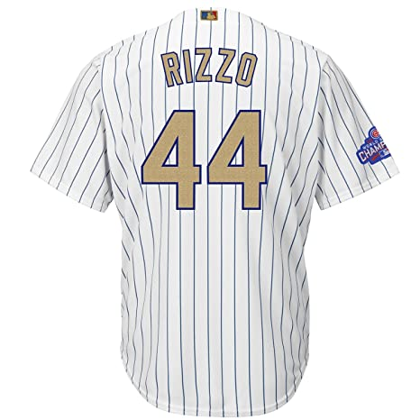 best service e63d1 b04bc Majestic Anthony Rizzo #44 Chicago Cubs Cool Base MLB Jersey ...
