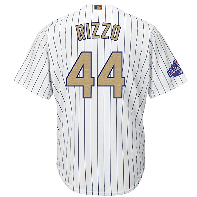 best service 4464e bd76b Majestic Anthony Rizzo #44 Chicago Cubs Cool Base MLB Jersey ...