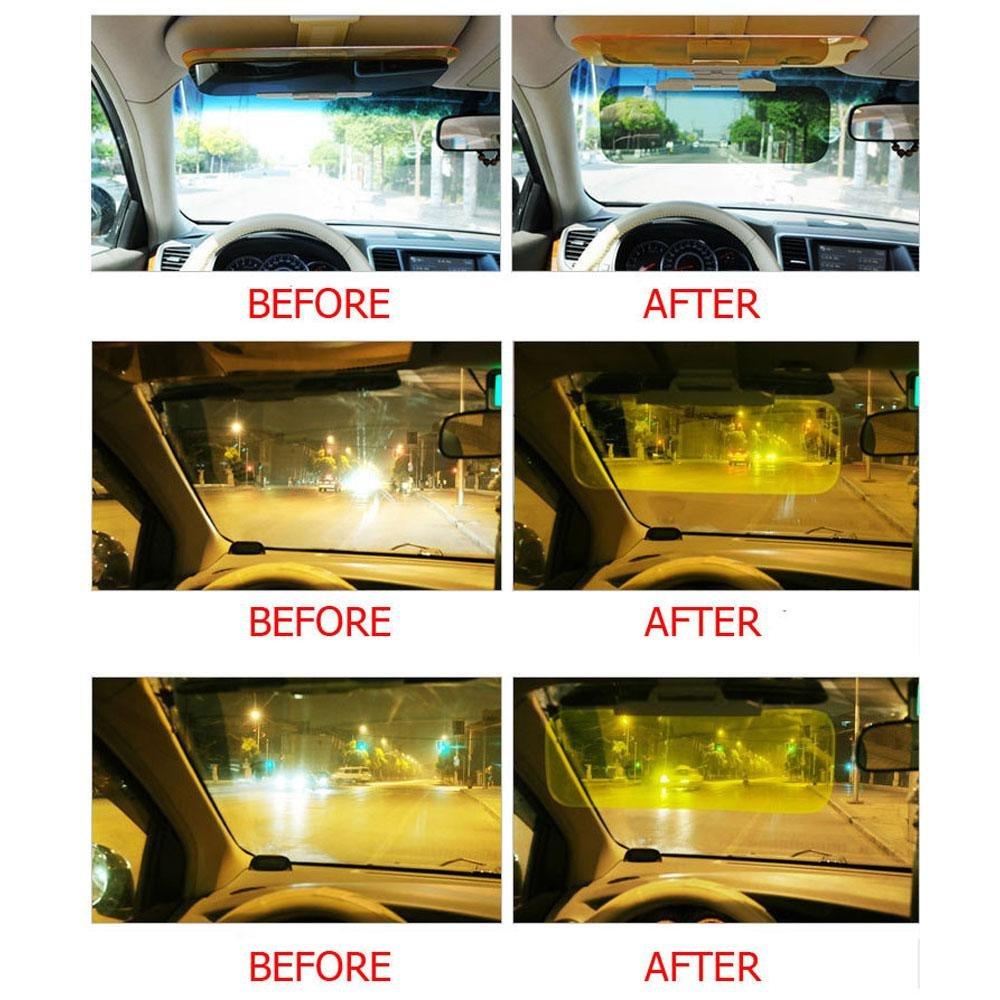 Day and Night Anti Glare Driving HD View Visor Windshield Car Sun Visor Extender Sun Anti-UV Block Visor Non Glare Anti-Dazzle Sunshade Mirror Goggles Shield for Driving Goggles