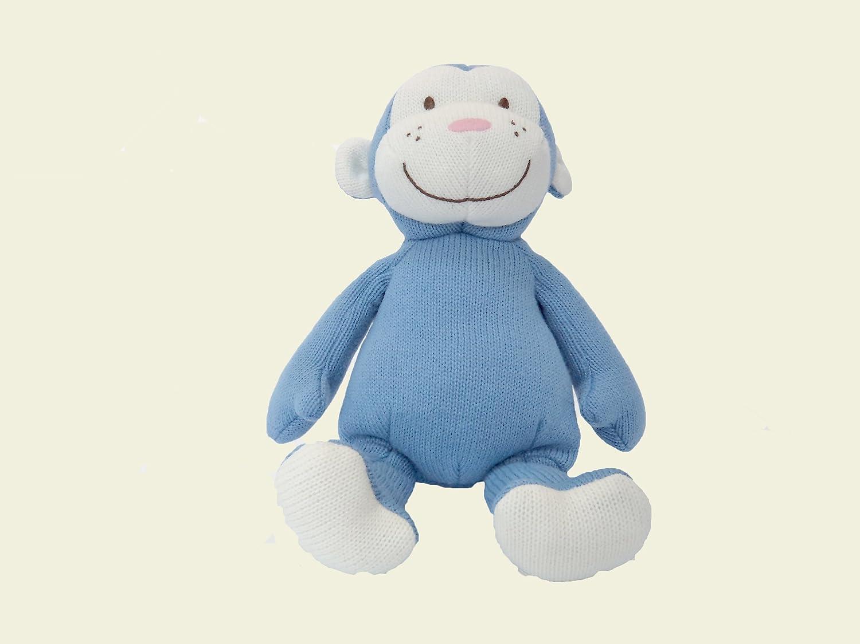 Knitted Blue Monkey Imajo